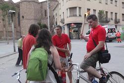La Flama del Canigó arriba a Sabadell, 2015 La Flama sobre rodes.