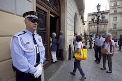 Ple de constitució de l'Ajuntament de Sabadell Accés custodiat.