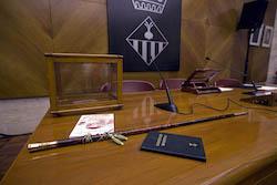 Ple de constitució de l'Ajuntament de Sabadell Tot a punt.