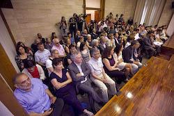 Ple de constitució de l'Ajuntament de Sabadell Ple a vessar.