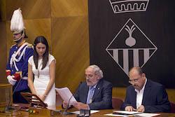 Ple de constitució de l'Ajuntament de Sabadell Mesa d'Edat.