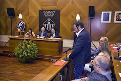 Ple de constitució de l'Ajuntament de Sabadell Juli Fernàndez en el seu torn de paraula.