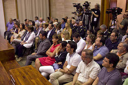 Ple de constitució de l'Ajuntament de Sabadell Expectació.
