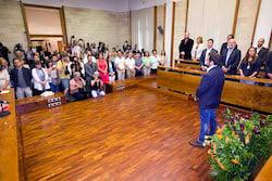 Ple de constitució de l'Ajuntament de Sabadell Segadors.
