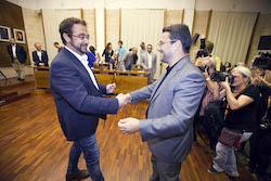 Ple de constitució de l'Ajuntament de Sabadell Trobada d'alcaldes.