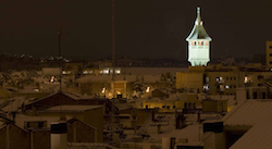 Una nevada històrica Sabadell després de la nevada, amb la Torre de l'Aigua de fons. Isabel Marquès.