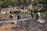 Catalunya sota l'amenaça dels incendis forestals Els Agents Rurals inspeccionen la zona que es va cremar a Begur (Baix Empordà), a la demarcació de Girona, per determinar l´origen de l´incendi.