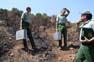 Catalunya sota l'amenaça dels incendis forestals Agents Rurals a la comarca del Baix Empordà.