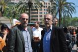 Fira per la Terra 2011 Joan Ridao (Esquerra) i Ricard Gomà (ICV)