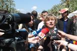 Fira per la Terra 2011 Anna Rosa MArtínez, delegada de Greenpeace, ha parlat en nom de Tanquem les Nuclears.