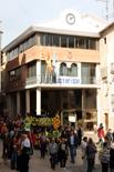 Concentració contra el cementiri nuclear a Ascó
