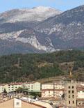 Paisatge i meteorologia de novembre al Ripollès La serra de Montgrony blanca, des de Ripoll (15 de novembre). Foto: Arnau Urgell