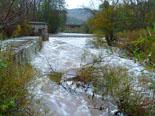 Paisatge i meteorologia de novembre al Ripollès El Ter a Ripoll ben ple (18 de novembre). Foto: Antonina Coromina