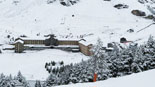 Paisatge i meteorologia de novembre al Ripollès La nevada ha deixat 30 cm a Núria (18 de novembre). Foto: Vall de Núria