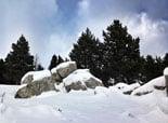 Paisatge i meteorologia de novembre al Ripollès Neu al collet de les Barraques (24 de novembre). Foto: Jordi Campos