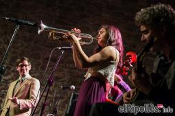 El resum del 2014 al Ripollès, en imatges Concert d'Andrea Motis en el marc del Festival de Música Internacional de Ripoll. Foto: Adrià Costa