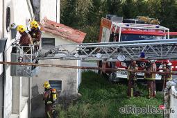 El resum del 2014 al Ripollès, en imatges Incendi a Filatures Moto de Gombrèn. Foto: Arnau Urgell