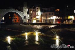 El resum del 2014 al Ripollès, en imatges La llevantada deixa els rius al llindar de desbordar-se. Foto: Daniel Rodríguez