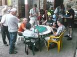 Festa Major de Pardines Campionat de botifarra al bar can Manel. Foto: Joan Vila i Triadú