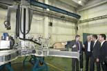 Jordi Martinoy visita l'empresa Aquiles Robotics de Ripoll