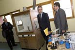 Jordi Martinoy i Andreu Otero visiten l'IES Abat Oliba de Ripoll