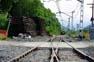 Obres al tren a Toses i Planoles Pas a nivell de Planoles