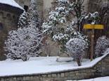 Calamarsada del 12 de març Vilallonga s'ha nevat ben blanc. Foto: Hostal Pastoret de Vilallonga