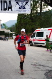 Ultratrail els Bastions de la Vall de Ribes Arribada de Juan Miguel Cuenca, tercer classificat a la ultratrail. Foto: Laia Deler