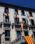 Diada Nacional: estelades al Ripollès Ajuntament de Ribes. Foto: Roger Sadurní