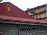 Diada Nacional: estelades al Ripollès Pavelló de Sant Joan. Foto: Els Fills de la Terra