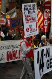 Manifestació de la vaga general a Ripoll