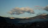 Paisatge i meteorologia desembre 2011 i gener 2012 Neu a la serra de Montgrony des de Ripoll (17 de desembre). Foto: Arnau Urgell