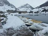 Neu, pluja i calamarsa 15-18 de maig A Núria s'acumulen més de 30 cm (19 de maig). Foto: Bombers de Ribes