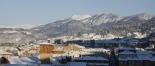 L'endemà de la gran nevada Ripoll ben blanc i amb sol (08:30). Foto: Arnau Urgell