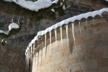 L'endemà de la gran nevada Caramells al monestir de Sant Joan. Foto: Steve Cedar