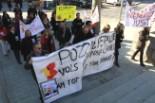 El 2009 al Ripollès, en 100 imatges Manifestació contra l'ERO de Tallers Casals (Ripoll, 15 de febrer) Foto: Arnau Urgell