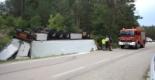 El 2009 al Ripollès, en 100 imatges Accident d'un camió a la C-26 (Les Llosses, 27 d'agost) Foto: Arnau Urgell