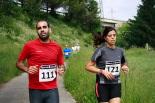 I Cursa de les Quatre Ermites de Ripoll Rubén Sánchez i Maria Alzina. a punt d'arribar a la zona dels Mossos. Foto: Arnau Urgell