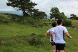 I Cursa de les Quatre Ermites de Ripoll Pol Bertran i Ramon Vilardel, al seu pas per Sant Roc. Foto: B&B Sports