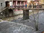 Temporal de pluja 4-6 de març L'aiguabarreig del Freser i el Rigard a Ribes. Foto: Laia Deler