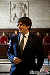 Ple de constitució de l'Ajuntament de Girona Carles Puigdemont, actual alcalde de Girona.