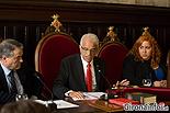 Ple de constitució de l'Ajuntament de Girona Eduard Berloso (CIU) i Míriam Pujola Romero (C's).