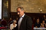 Ple de constitució de l'Ajuntament de Girona Pere Albertí i Serra (ERC-MES).