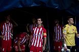 Futbol: Girona 1 - Saragossa 4 Jugadors del Girona moments abans de començar el partit.