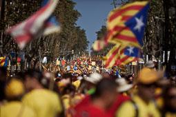 Via Catalana 2014 al tram del Gironès