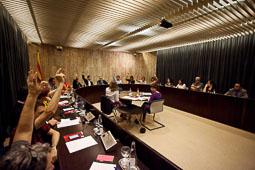 L'Ajuntament de Salt aprova la moció de suport a la consulta del 9-N