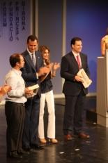 Primer Fòrum Impulsa El premi Impulsa de Ciència i Acadèmia s'ha entregat ex-aquo a Borja Ibáñez i Óscar Fernàndez-Capetillo.