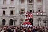 Festes de la Mercè: jornada castellera Moment en què el tres de nou dels Castellers de Barcelona fa 'llenya'.