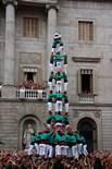 Festes de la Mercè: jornada castellera Quatre de Nou al folre dels Castellers de Vilafranca.