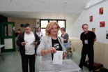 Municipals 2015 : candidats votant a Olot